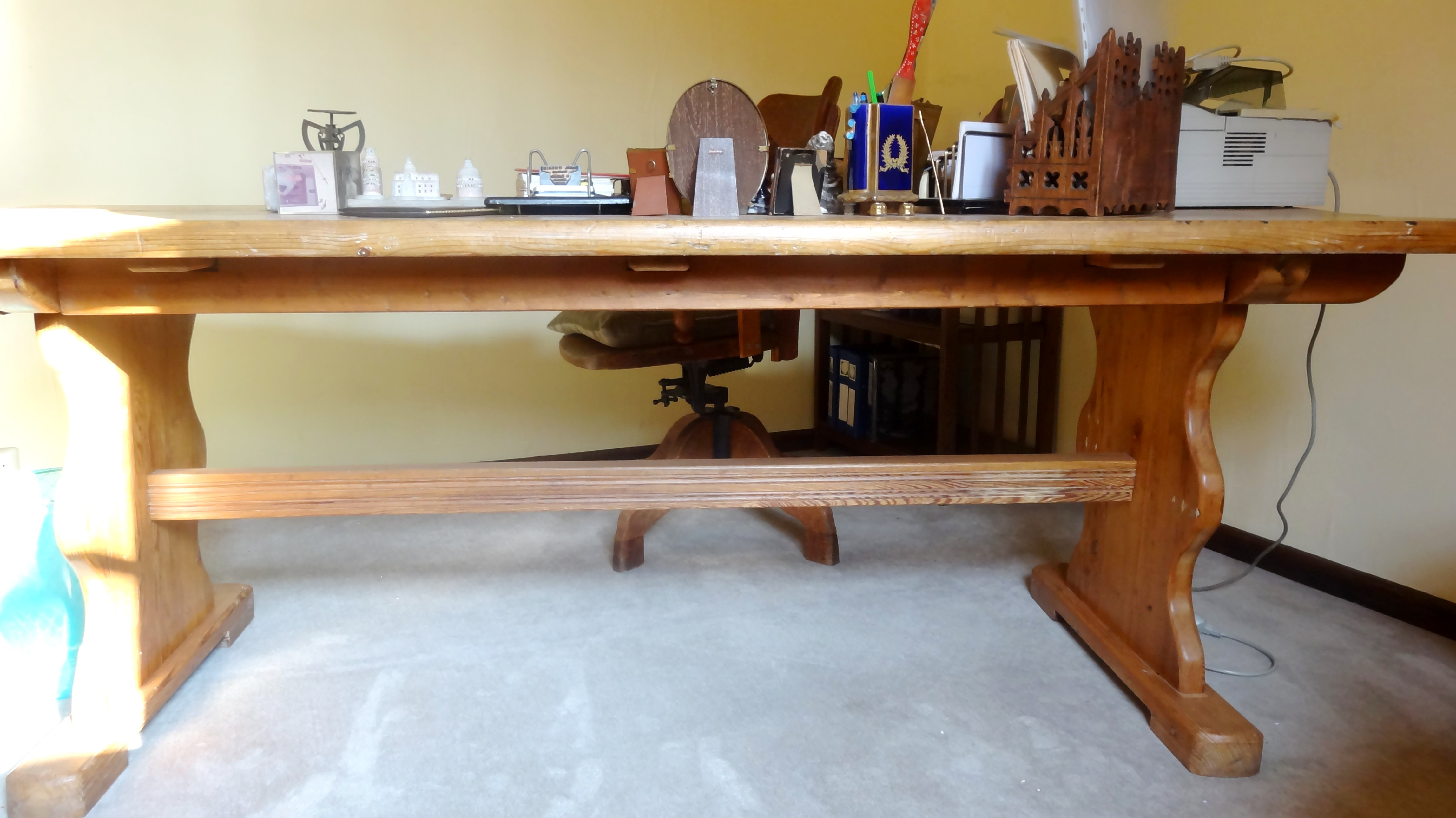 Table de ferme bureau pin 208 x 82 ht 76 1 u2013 petites annonces